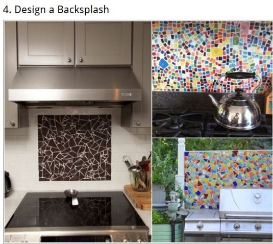 Be creative with broken tiles!