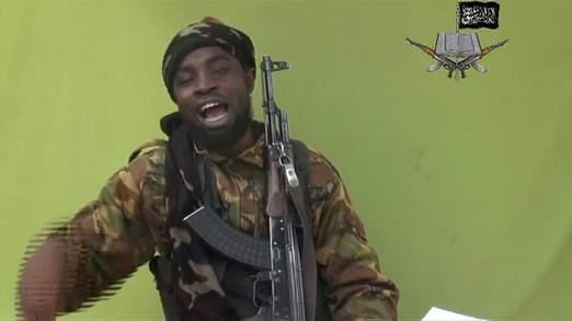 Boko Haram leader Abubakar Shekau speaks on the video for 17 minutes