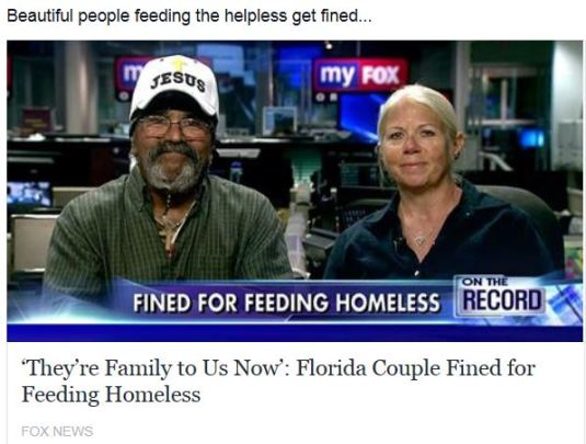 Fined for Feeding Homeless